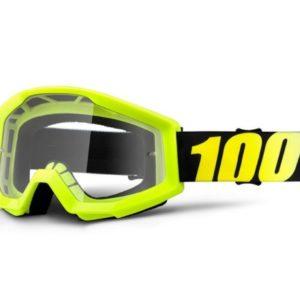 máscara 100 strata neon yellow lente transparente